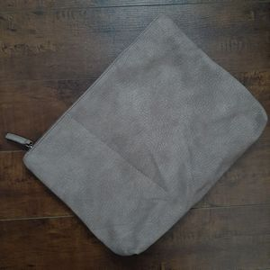 Free People Vegan Leather Zip Pouch/Clutch